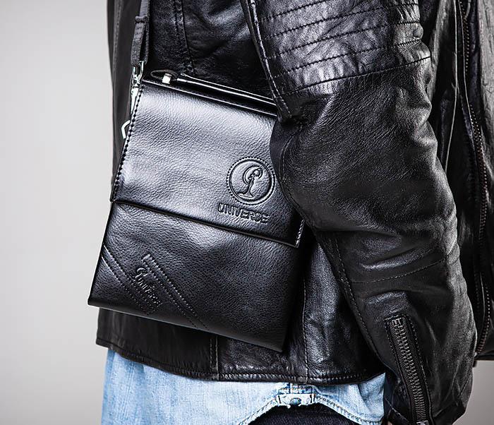 BAG560-1-2 Небольшая мужская сумка с ремнем на плечо