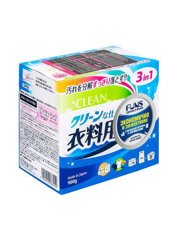 Порошок стиральный с ферментом яичного белка для полного устранения пятен Daiichi Funs Clean 900 гр