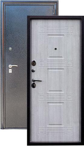 Дверь входная Z-6 стальная, дуб седой, 2 замка, фабрика Арсенал