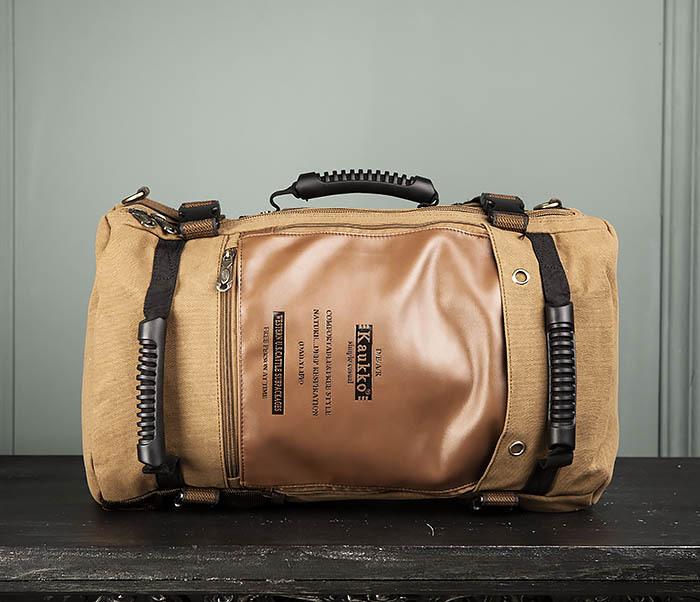 BAG365-2 Рюкзак-трансформер из плотного текстиля фото 02