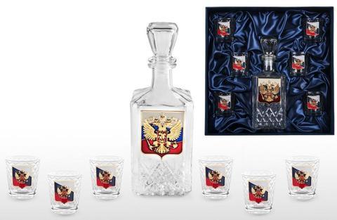 Подарочный набор для водки с штофом «Российский»