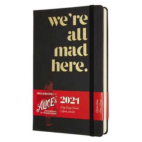 Ежедневник Moleskine LE Alice in Wonderland Large 130х210мм обложка текстиль 400стр. черный