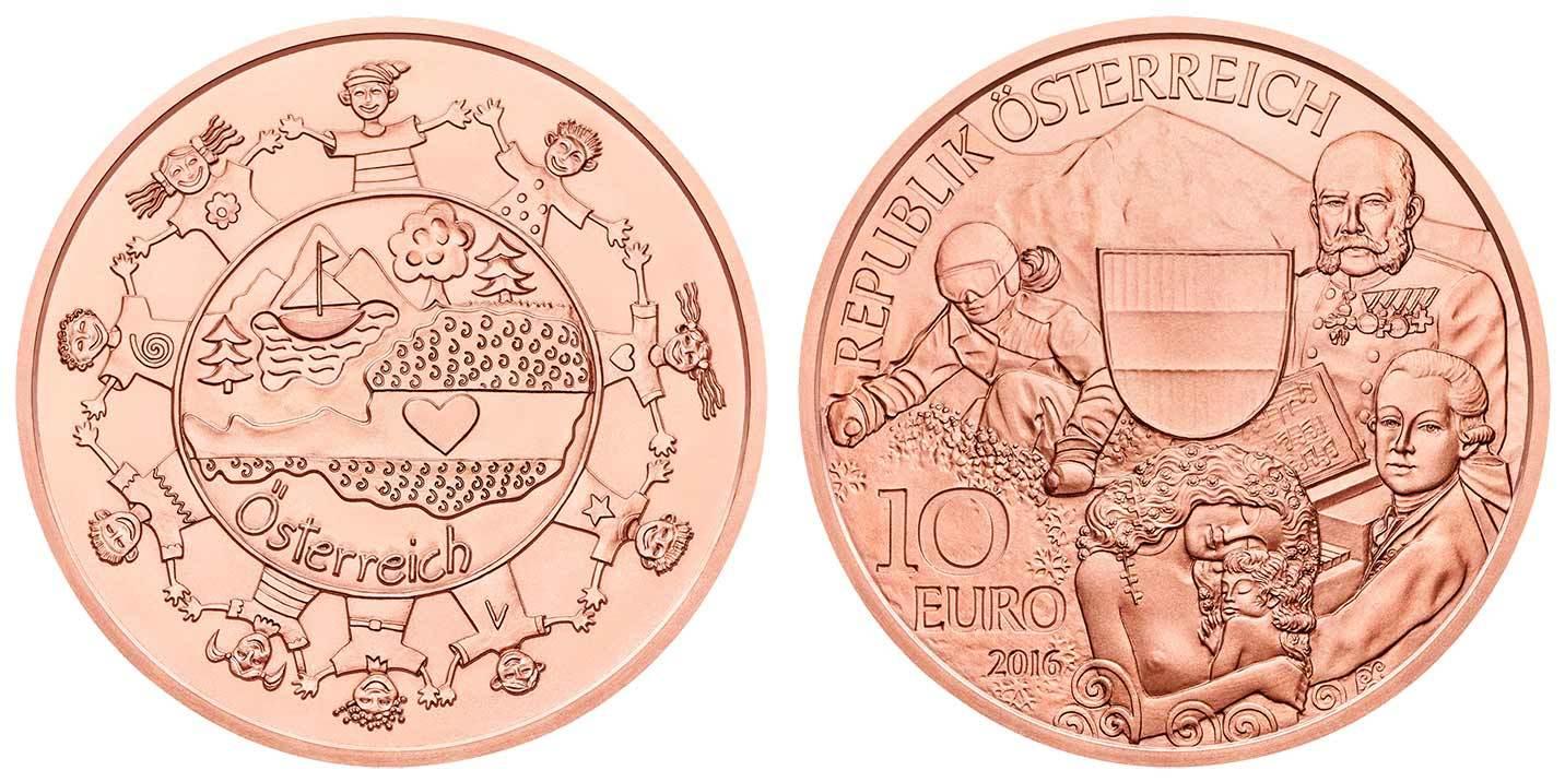 10 евро 2016 Австрия - Австрия