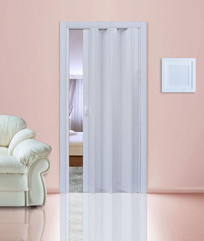 Дверь гармошка, белый глянец