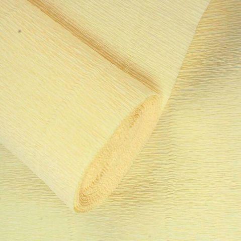 Бумага гофрированная, цвет 977 лимонно-кремовый, 140г, 50х250 см, Cartotecnica Rossi (Италия)