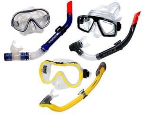 Купити комплект з маски і трубки для підводного плавання