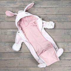 Евромама. Комбинезон плюшевый, белый + розовый гладкий вид 3