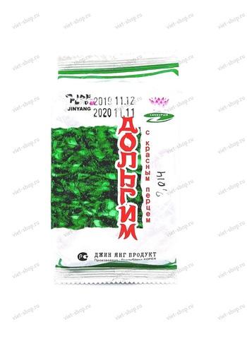 Корейская сушеная обжаренная морская капуста Дольгим с красным перцем, 8 гр.