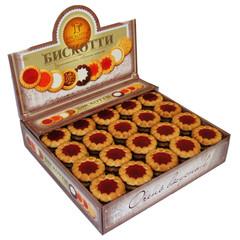 Печенье Бискотти Коста браво с вишневым мармеладом 2 кг