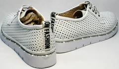 Спортивные женские туфли белые большого размера летние GUERO G177-63 White