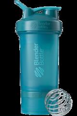 BlenderBottle ProStak, 650мл Шейкер с 2мя контейнерами, таблетницей и пружиной бирюзовый голубой