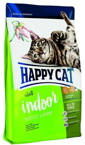 Сухой корм Happy Cat Adult Indoor Weide-lamm