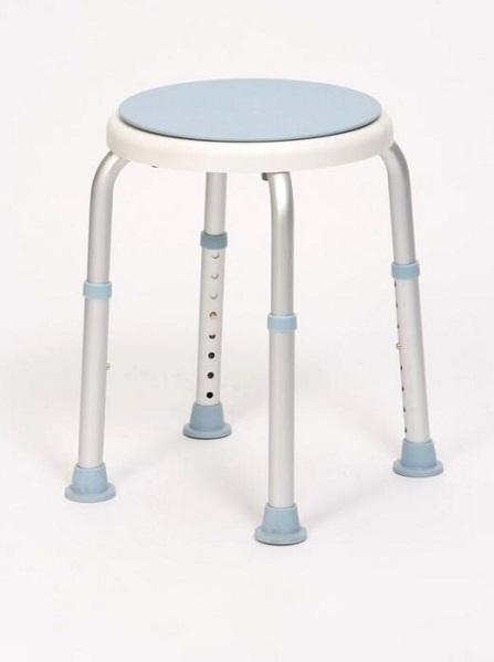 Adjustable height bath stool mobile shower seat