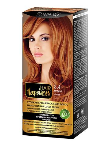 Белита-М Hair Happiness Крем-краска для волос аммиачная №8.4 медный
