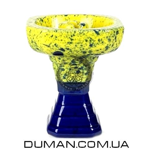 Чаша GrynBowls для кальяна |Hexahedron Dark Blue-Yellow