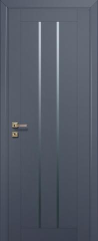 Дверь № 49 U (антрацит, остекленная экошпон), фабрика Profil Doors