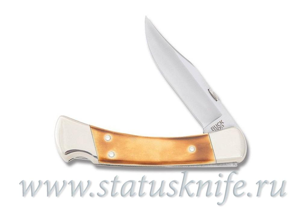 Нож BUCK 110 Folding White Bone - фотография