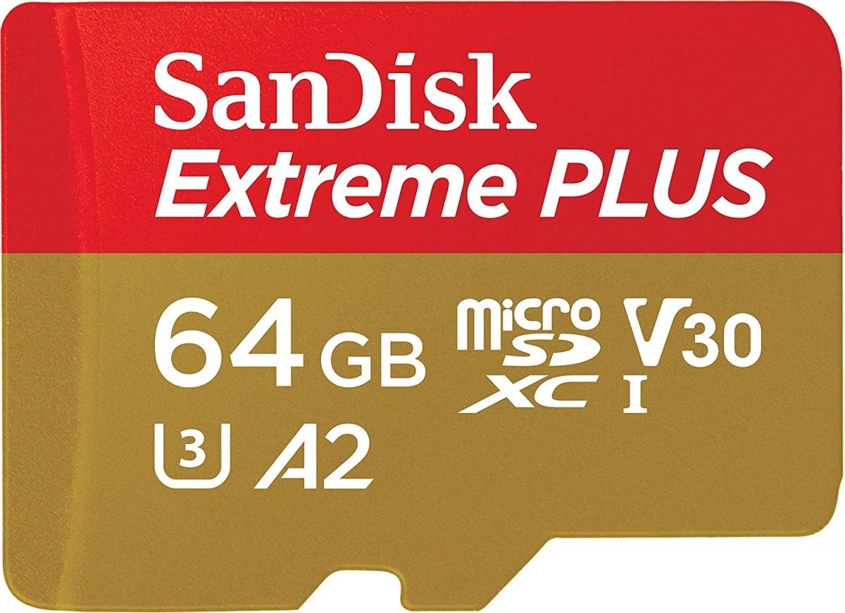 MicroSD 64GB  SanDisk Class 10 Extreme A2 V30 UHS-I U3 4K