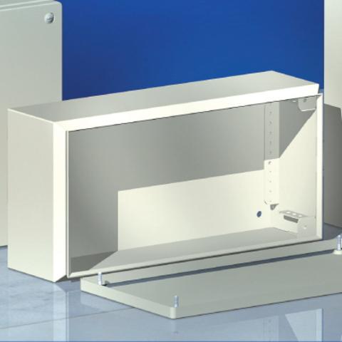 Сварной металлический корпус CDE, 400х200х120 мм, с фланцами, IP55
