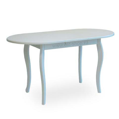 Стол № 74 Белый / овальный / 106(136)х70см