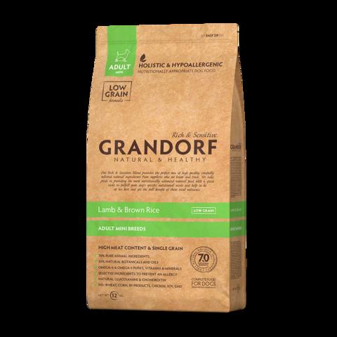Grandorf Lamb & Rice Adult Mini Сухой корм для взрослых собак мелких пород Ягненок с рисом низкозерновой