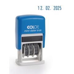 Датер автоматический пластиковый Colop S120 Bank мини (шрифт 3.8 мм, месяц обозначается цифрами)
