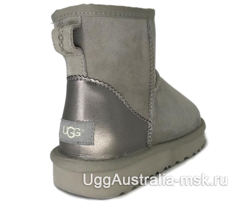 UGG Classic Mini II Metallic Driftwood Grey