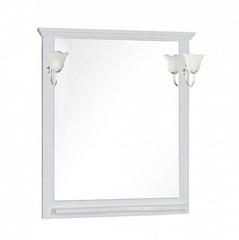 Зеркало Aquanet Лагуна 85 белое матовое
