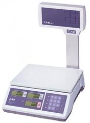 Весы торговые CAS ER JR-15СВU со стойкой до 15 кг с RS-232