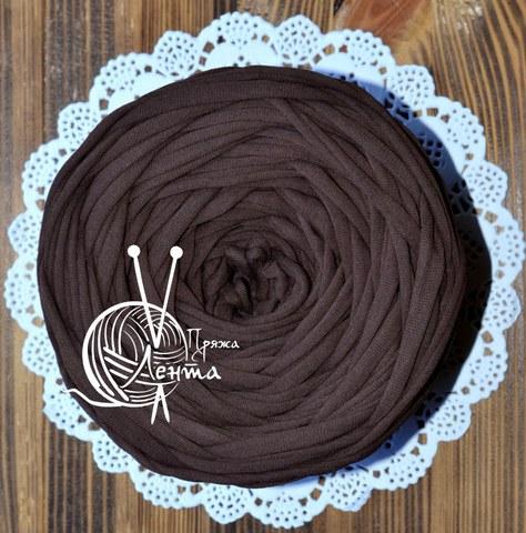 Пряжа Лента Шоколад