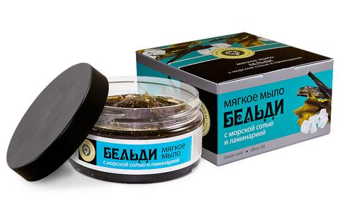 Мягкое мыло БЕЛЬДИ с морской солью и ламинарией для борьбы с целлюлитом