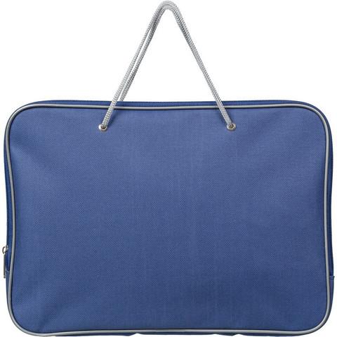Папка-портфель Attache нейлоновая А4 синяя (340x260 мм, 1 отделение)