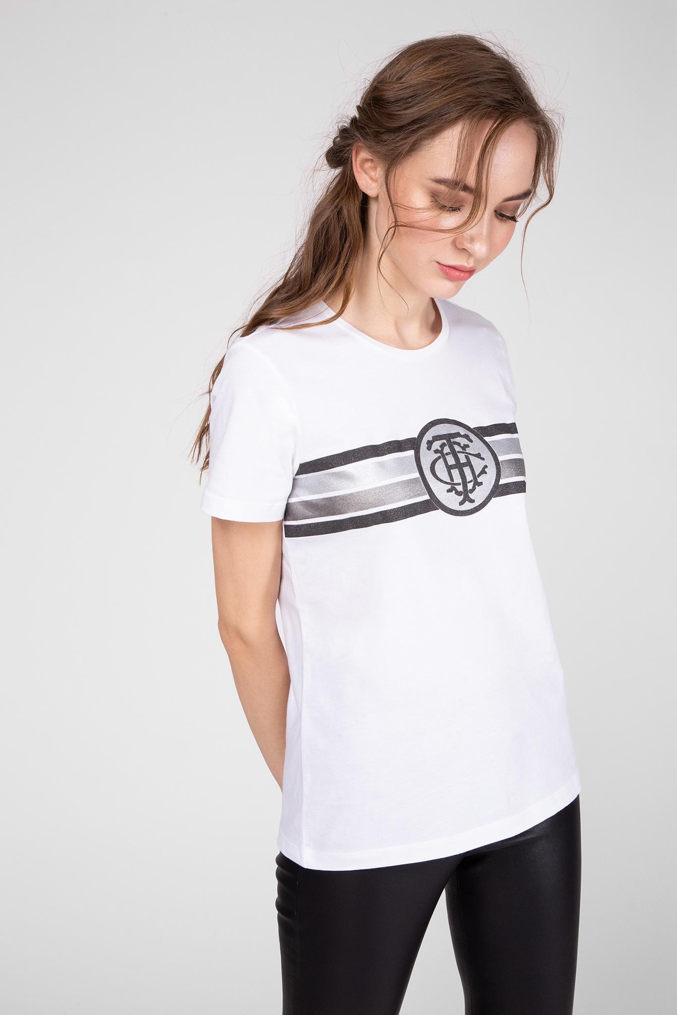 Женская белая футболка PAM C-NK Tommy Hilfiger