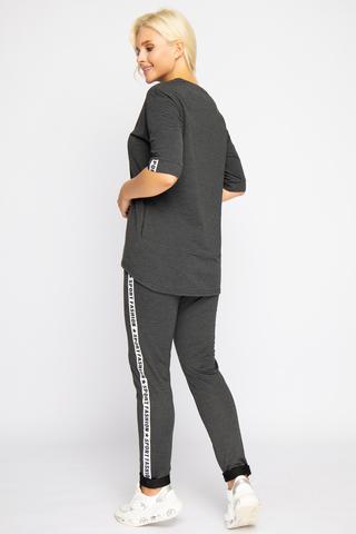<p>Гламурный костюм в стиле casual. Удобный и практичный вариант на каждый день. (Длина брюк 103 см во всех размерах)</p>