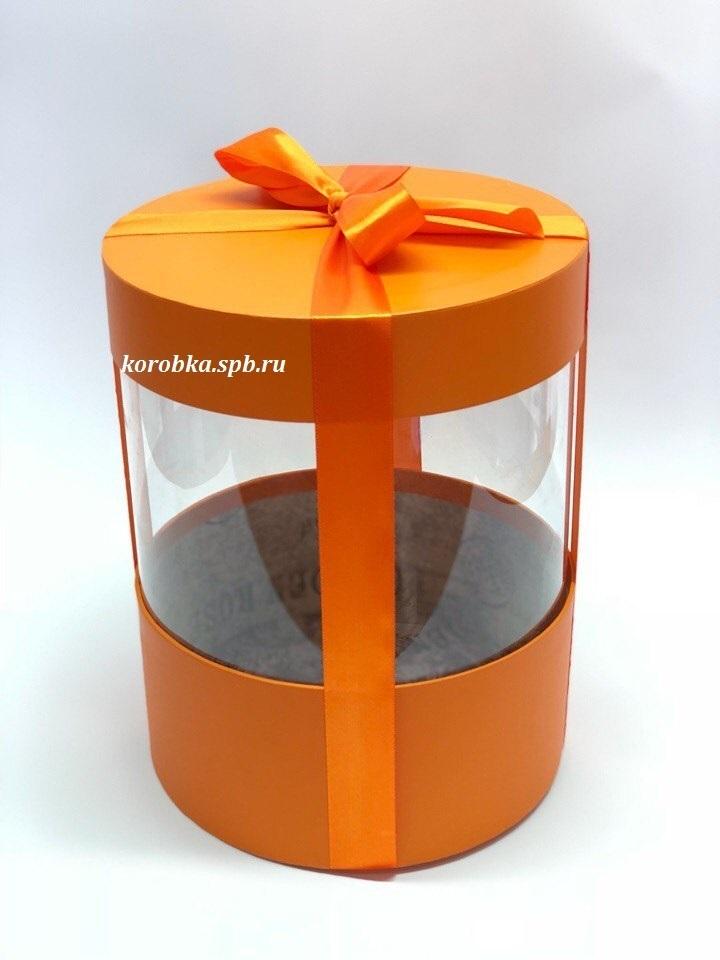 Коробка аквариум 20 см Цвет :Оранжевый  . Розница 400 рублей .