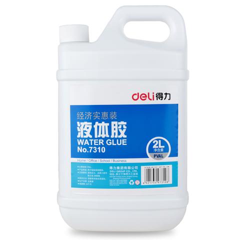Клей для слаймов Deli Water Glue № 7310 (прозрачный), 2000 мл