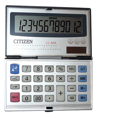 Калькулятор CITIZEN 80a
