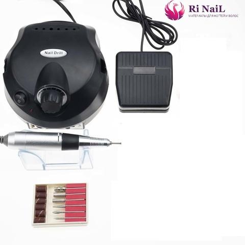 Аппарат для маникюра и педикюра nail drill 25000, черный