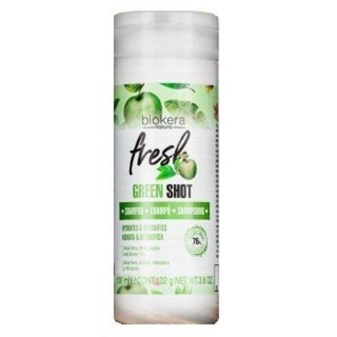 Шампунь Salerm Biokera Fresh Green Shot Shampoo, 100 мл.
