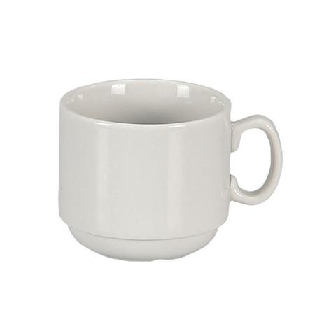 Чашка кофейная Добруш Мокко фарфоровая белая 100 мл (артикул производителя 6С0138Ф34)