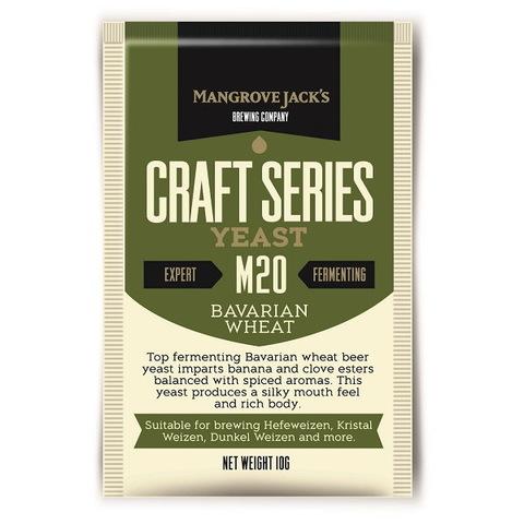 Дрожжи Mangrove jack's M20 Bavarian wheat на 23 литра пива