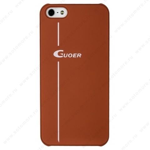 Накладка GUOER для iPhone SE/ 5s/ 5C/ 5 красная