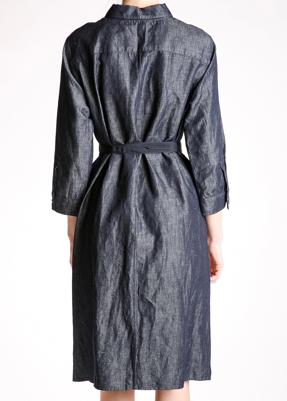 Платье из хлопка и льна LES COPAINS