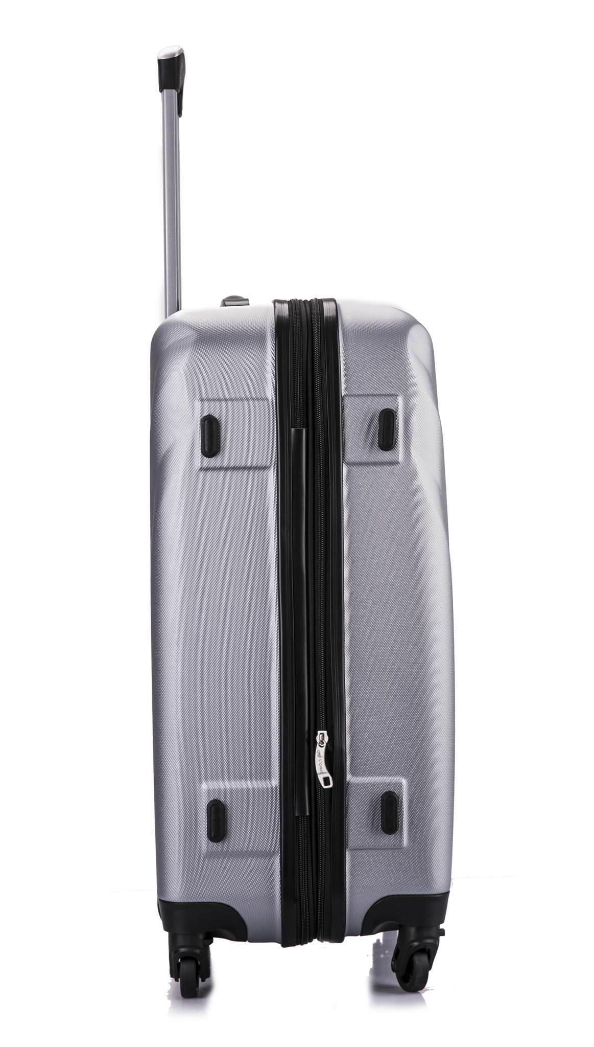 Чемодан с расширением L'case Phuket-28 Серебро (XL)