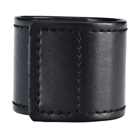 Хомут-утяжка для мошонки из искусственной кожи на липучке VELCRO BALL STRETCHER- 4 см.