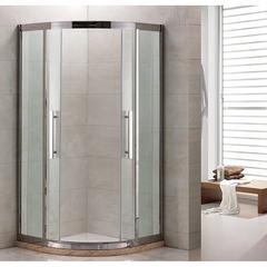 Душевое ограждение Grossman PR-100S серебро, 100х100, с раздвижными дверьми, полукруглое