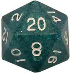 Mega Acrylic D20: Ethereal Light Blue with White Numbers