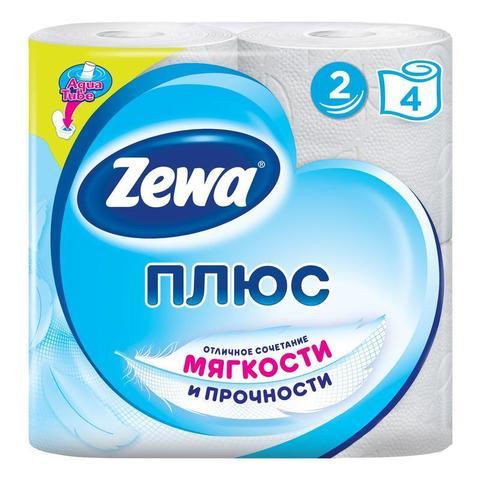 Туалетная бумага Zewa Plus 2сл 4рул/уп бел. 1/24