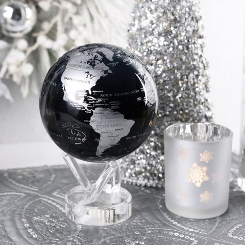 Глобус MOVA GLOBE Политическая карта мира 16,5 см синий/серебро123