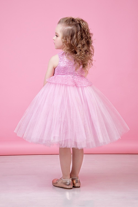 Платье розовое для девочки 38-9013-4